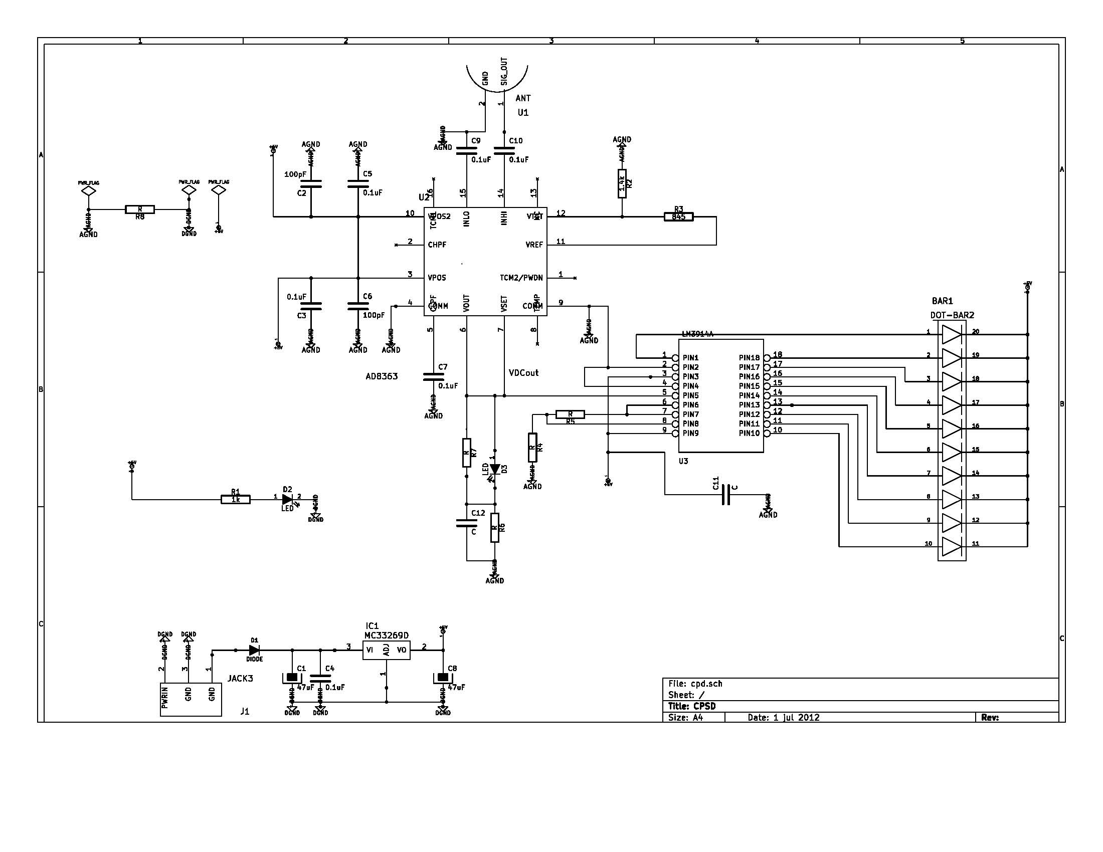 Cell Phone Signal Detector Schematic!